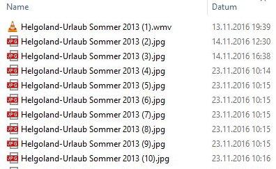 Dateien umbenennen